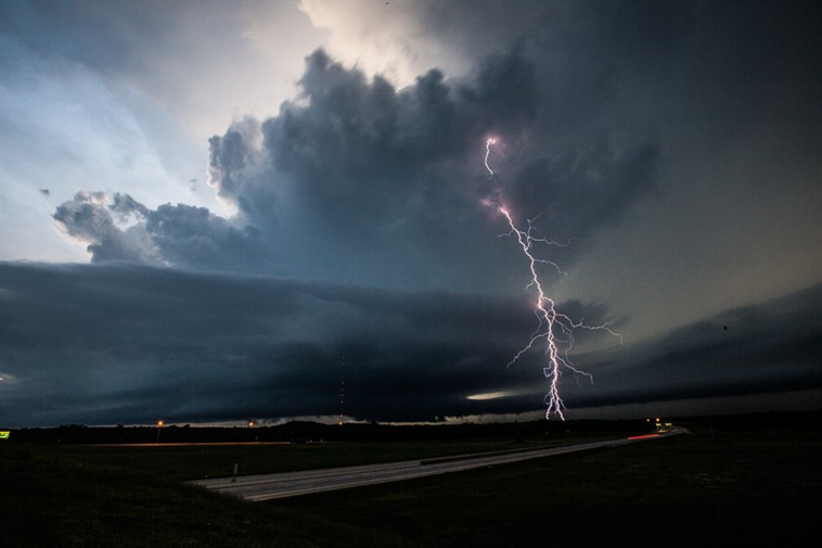 Lightning over Broken Arrow