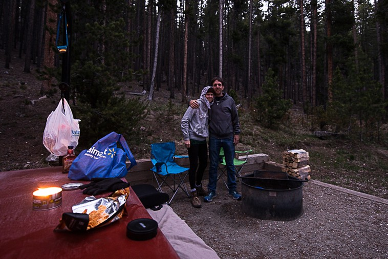 Us at campsite